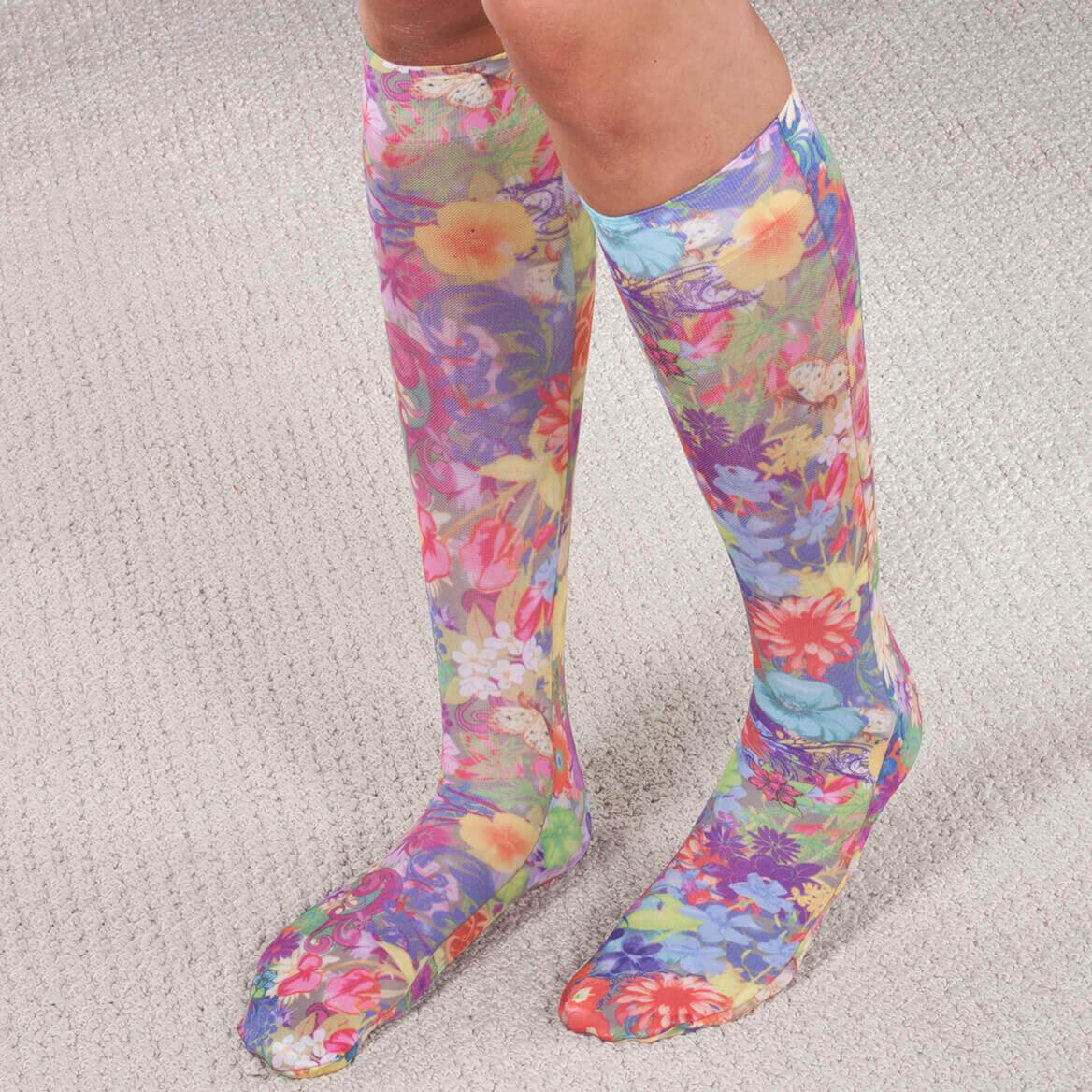 Celeste Stein Women Compression Socks Latex Free Knee Length 5-11 Assorted Style