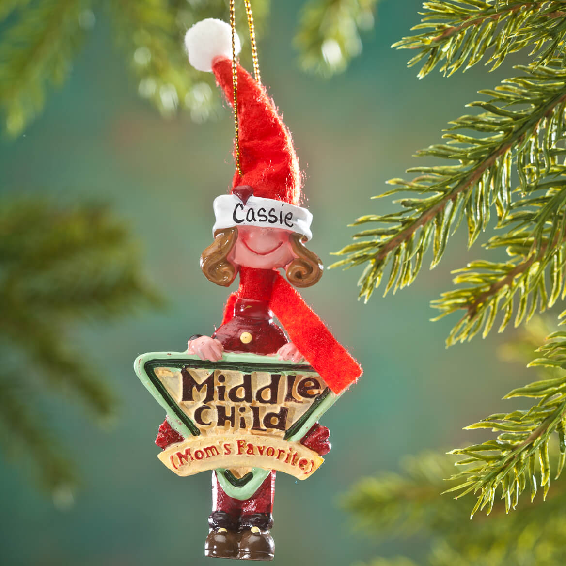 Personalized Mom's Favorite Middle Child Ornament-353219