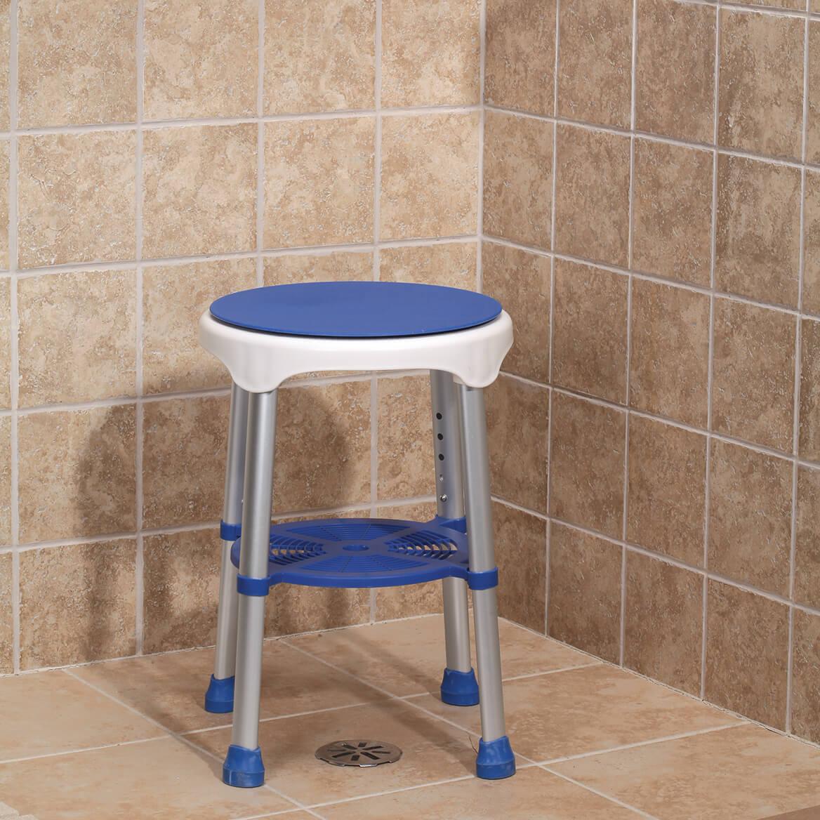 Compact Swivel Stool - Shower Stool - Shower Seat - Walter Drake