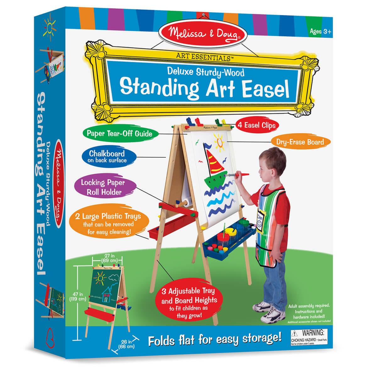 Melissa & Doug®  Deluxe Wooden Standing Art Easel-355395