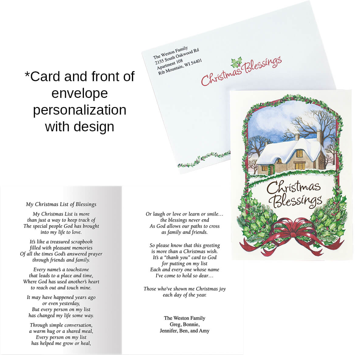 Personalized I Said A Christmas Prayer Card - Walter Drake