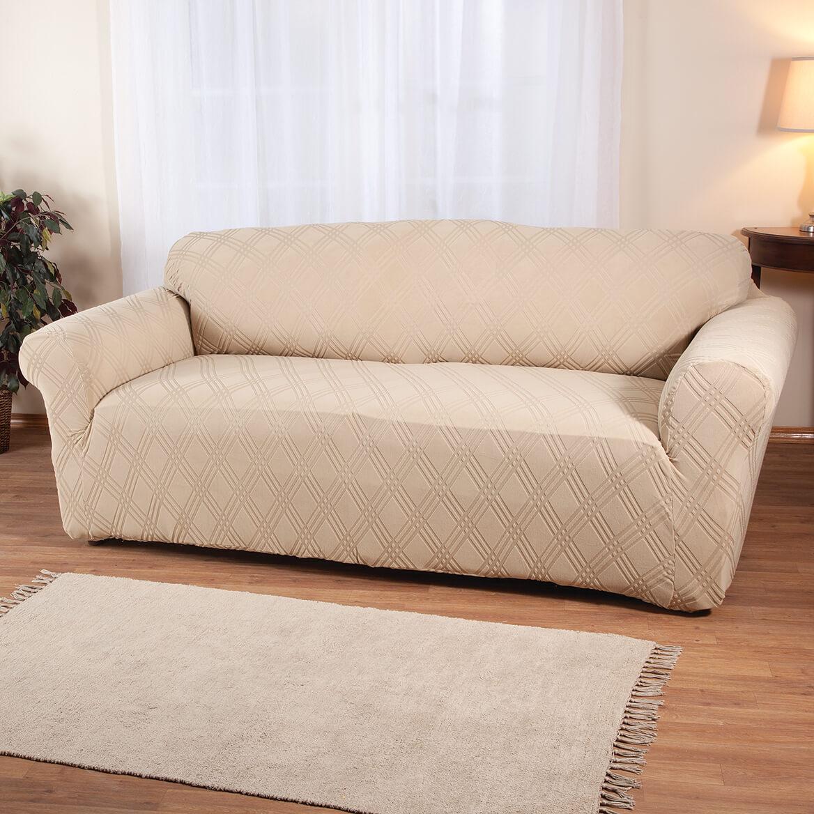 Double Diamond Stretch Sofa Cover