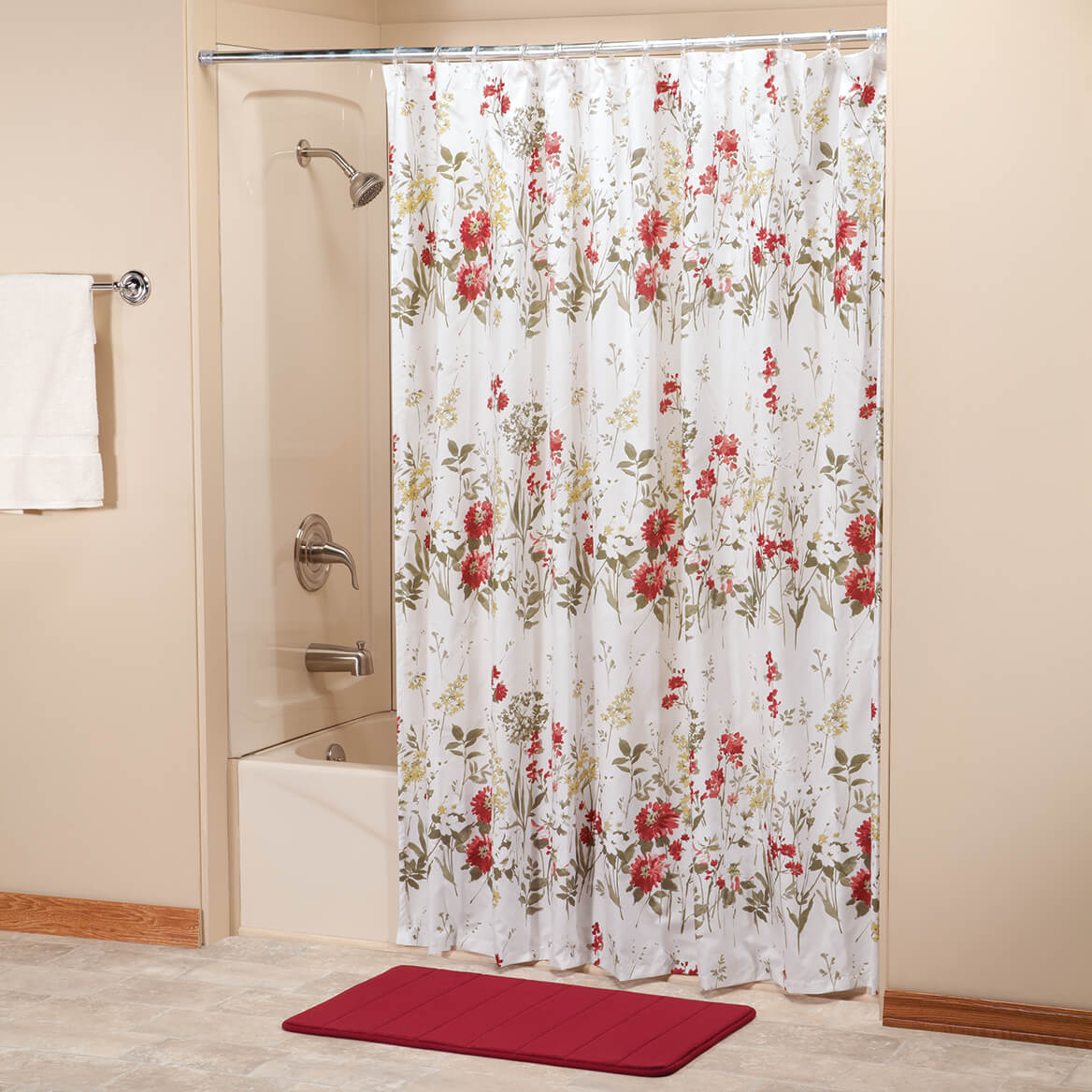 Ruby Meadow Shower Curtain By OakRidgeTM 358130