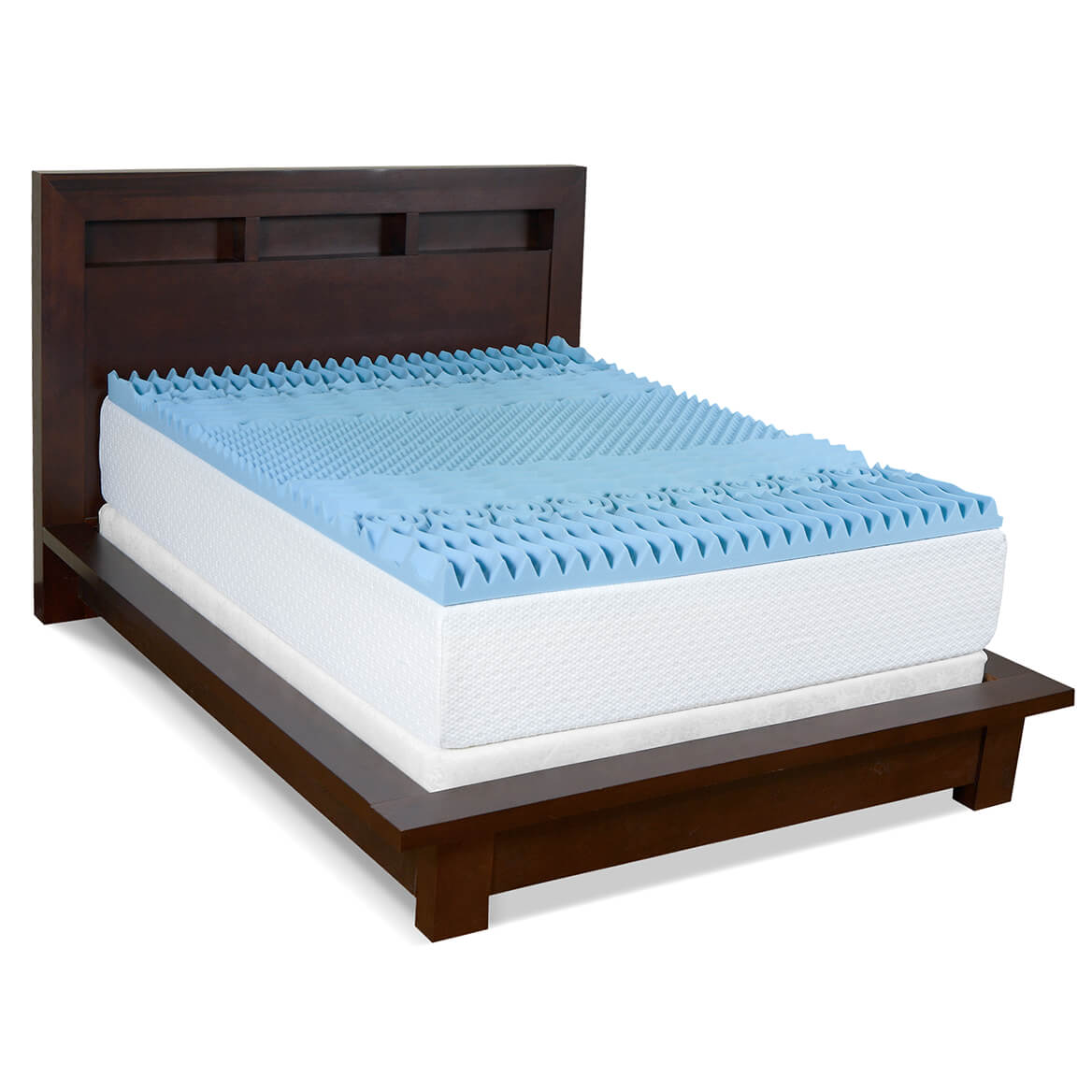 "3"" Gel Memory Foam 7-Zone Mattress Topper-358264"