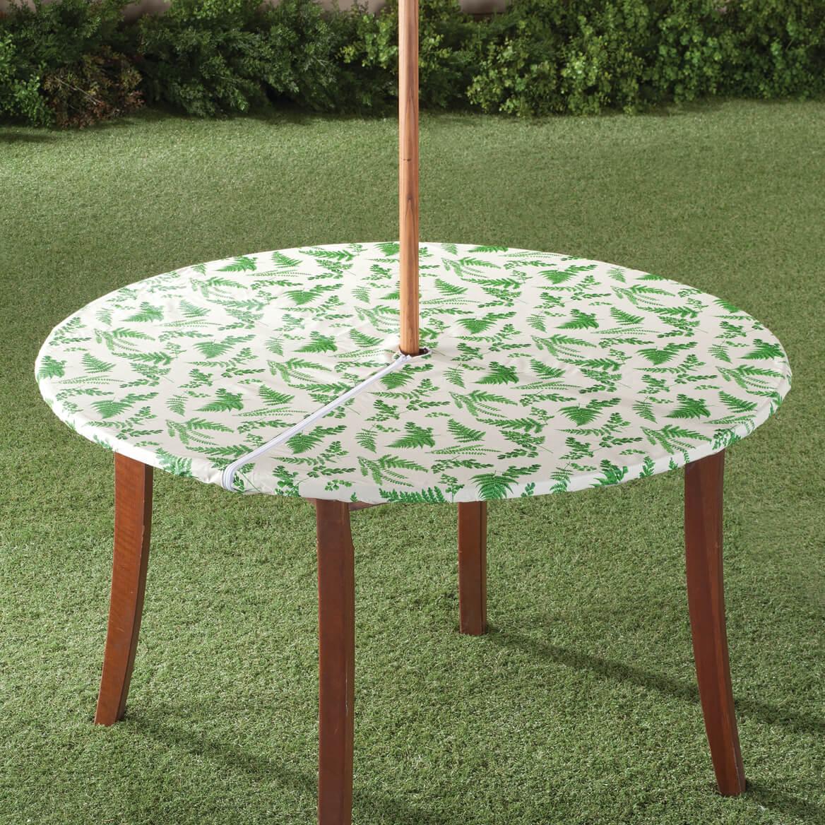 Garden greenery zippered elasticized umbrella table cover 358463