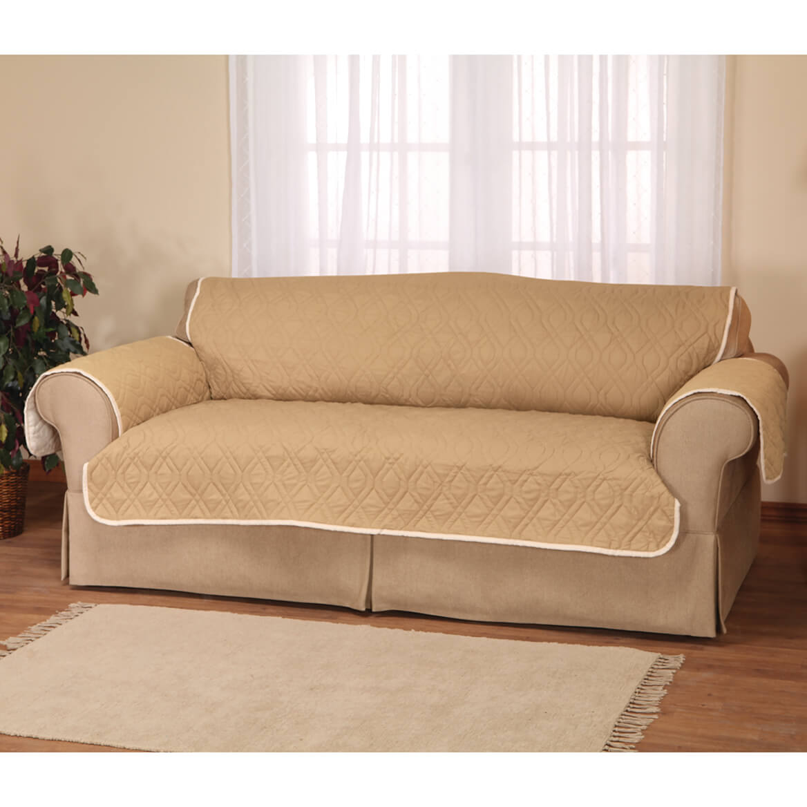 Select Quantity   +. Saved To Wishlist Save To Wishlist Add To Cart.  Description: This 5 Star Reversible Waterproof Sofa Protector ...
