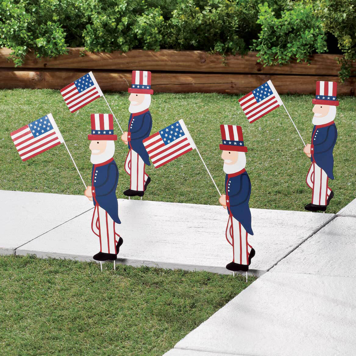 Uncle Sam Metal Yard Stakes, Set of 4 by Fox River Creations™-358763