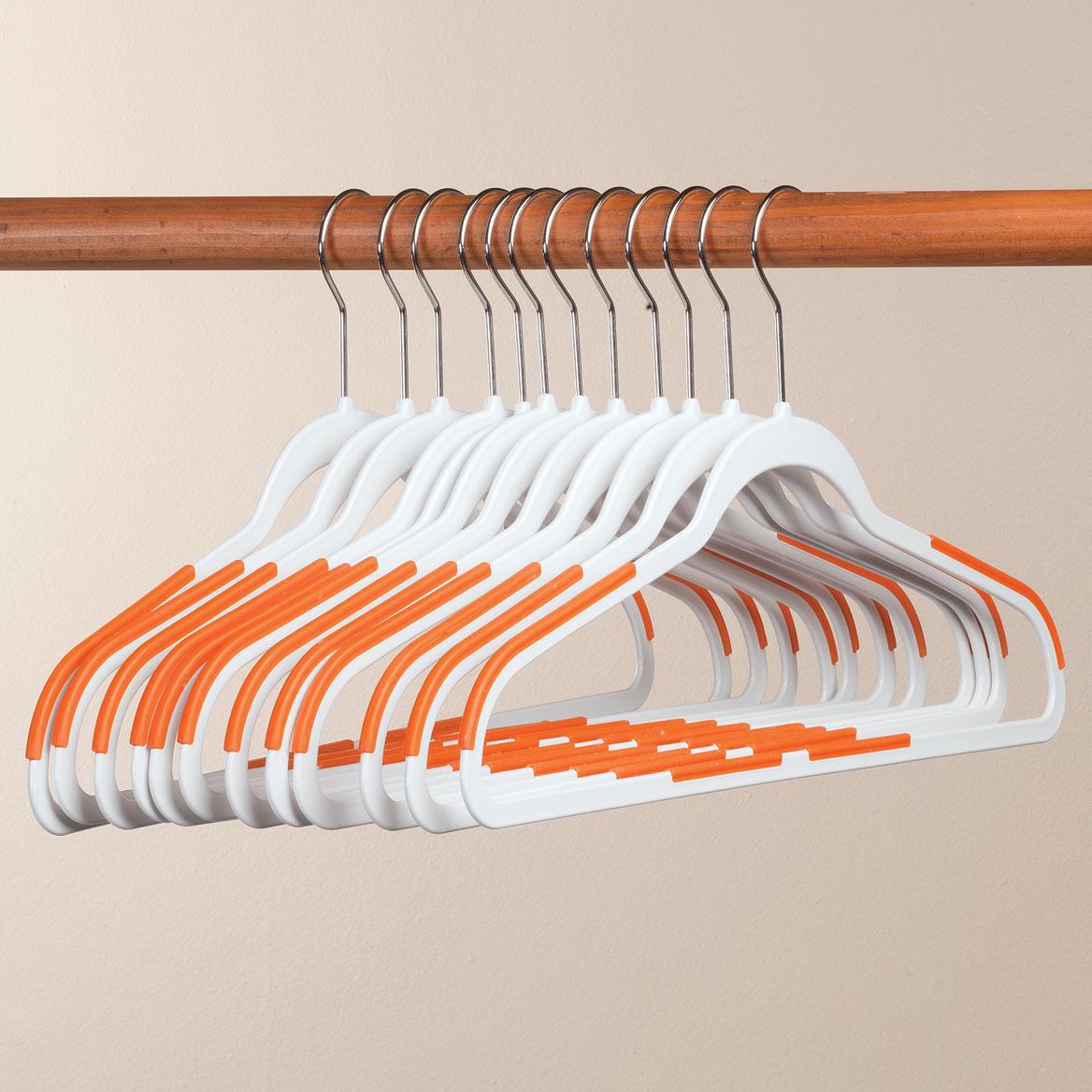 Slim Rubberized Hangers, Set of 12-359222