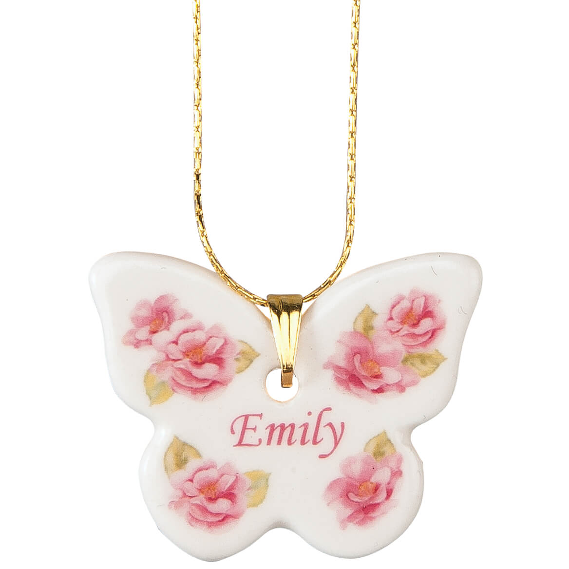 Personalized Porcelain Butterfly Pendant-359974
