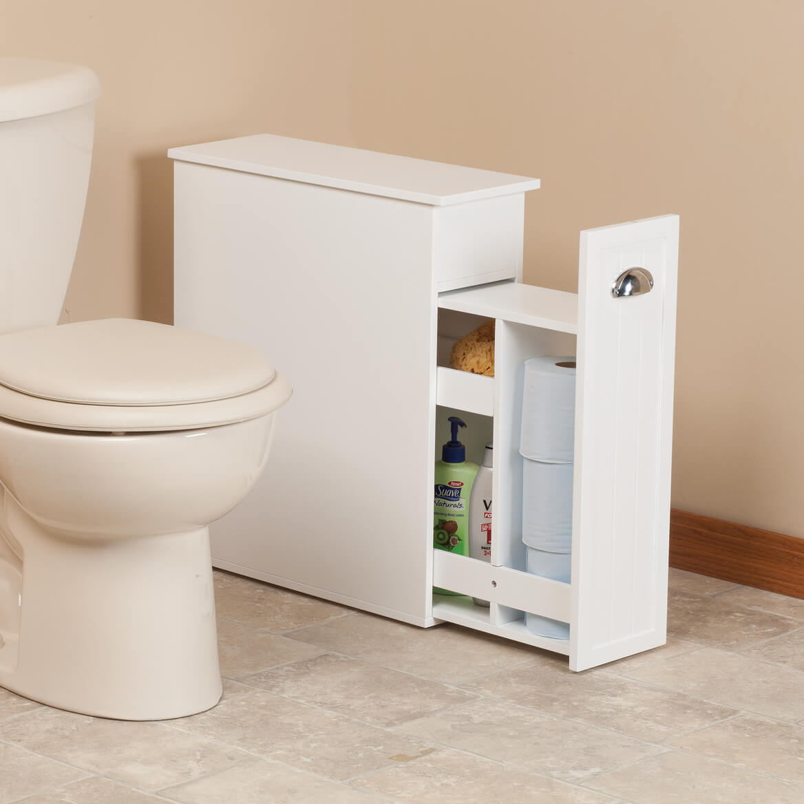 Slim Bathroom Storage Cabinet By Oakridge Slim Cabinet Walter Drake