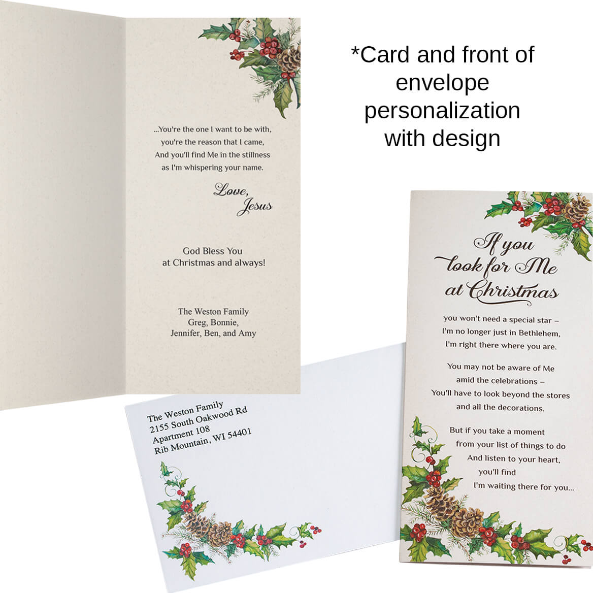 Personalized Looking for Jesus Christmas Cards