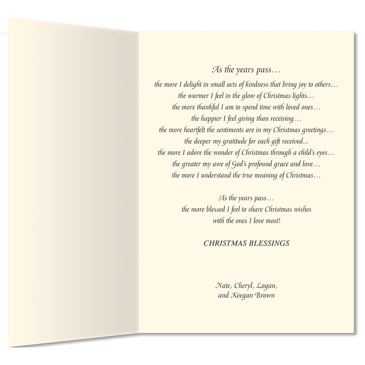 My Christmas List Religious Christmas Card Set Of 20 Walter Drake