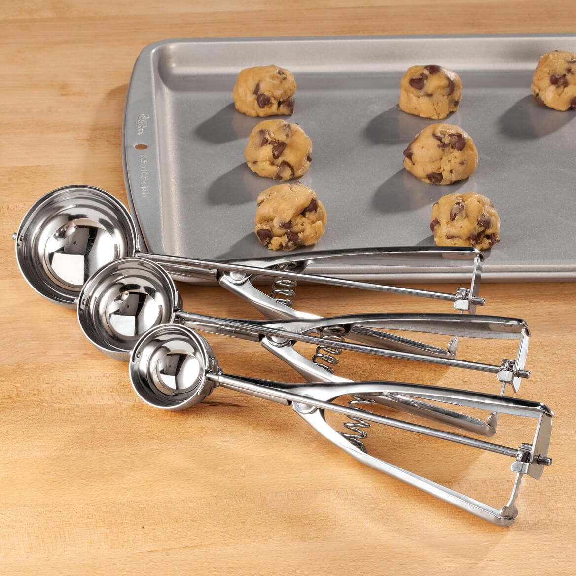 Stainless Steel Cookie Scoop S/3-360438