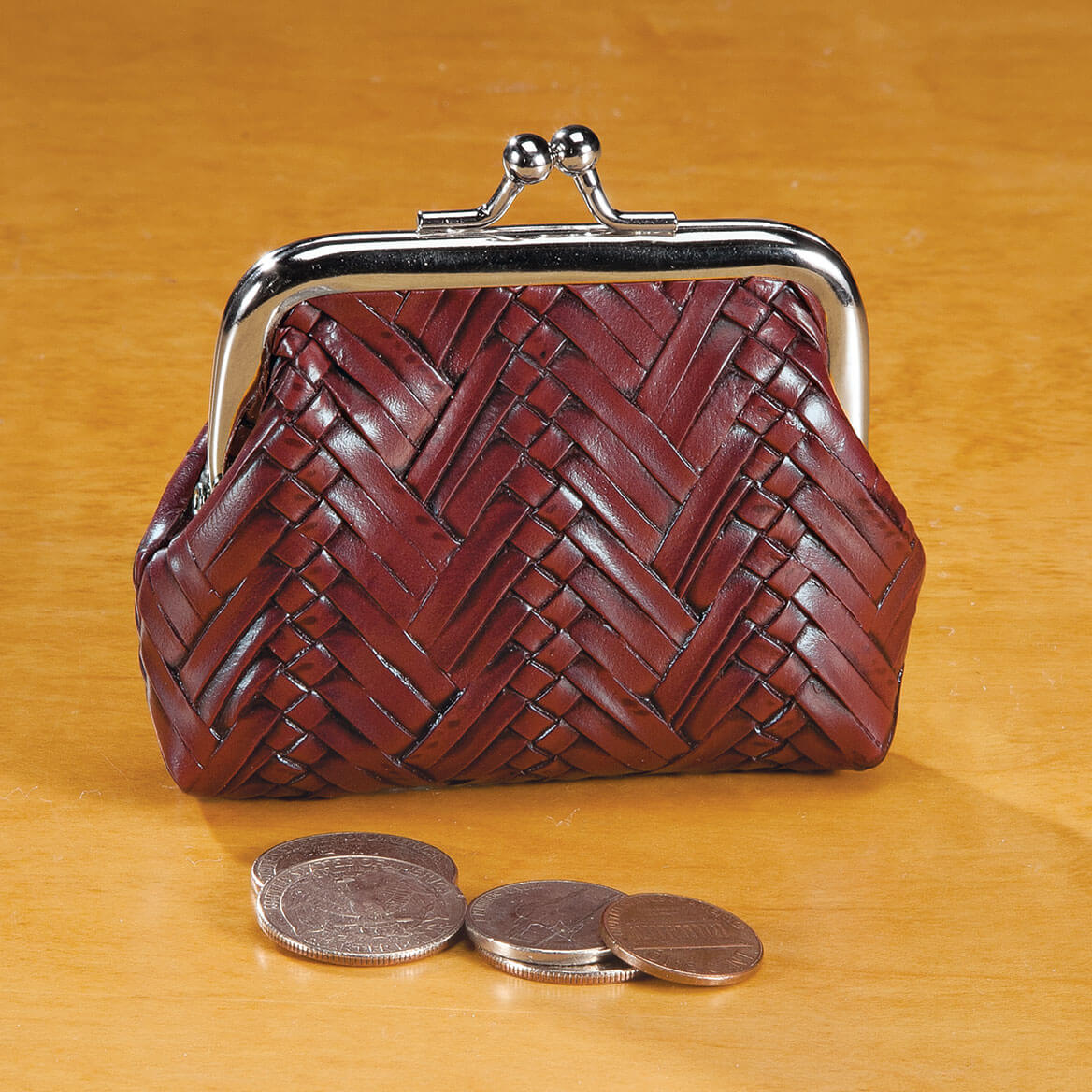 Weave Coin Purse Assorted-360595