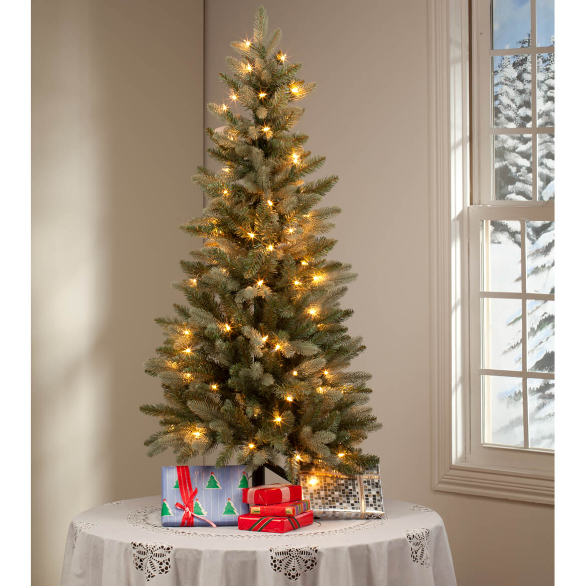 ... 4-Foot Blue Spruce Tree with Lights by Holiday Peak™-360826
