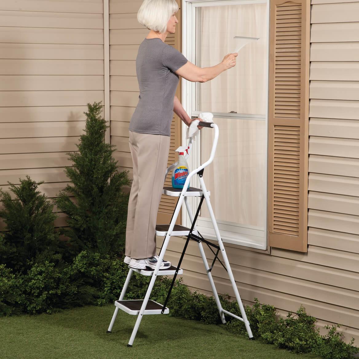 Folding Four Step Ladder by LivingSURE™    XL-360949
