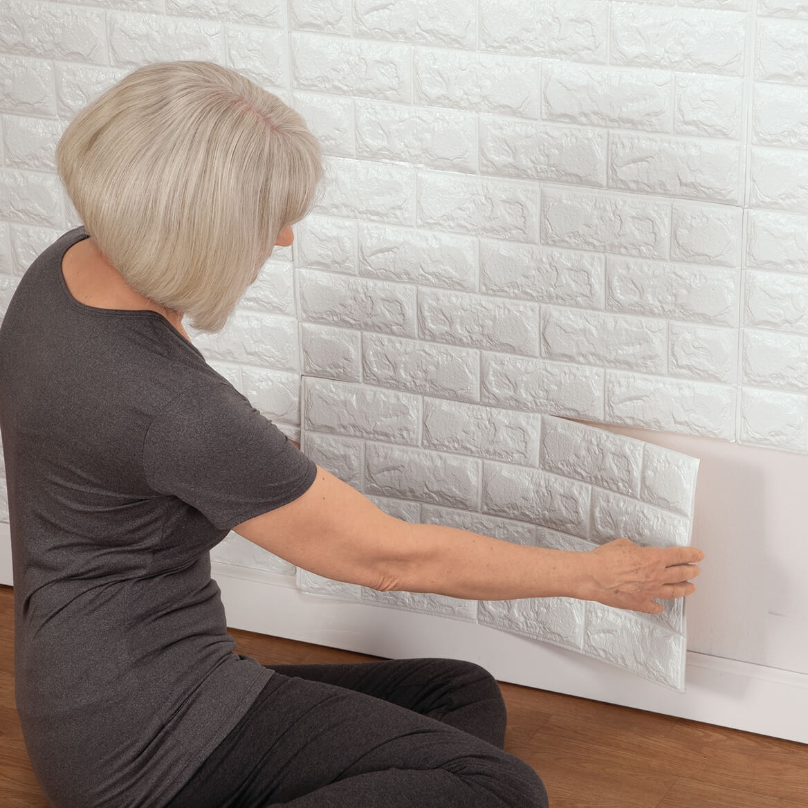 Faux Brick Wall Tile Decals Set of 6-361055