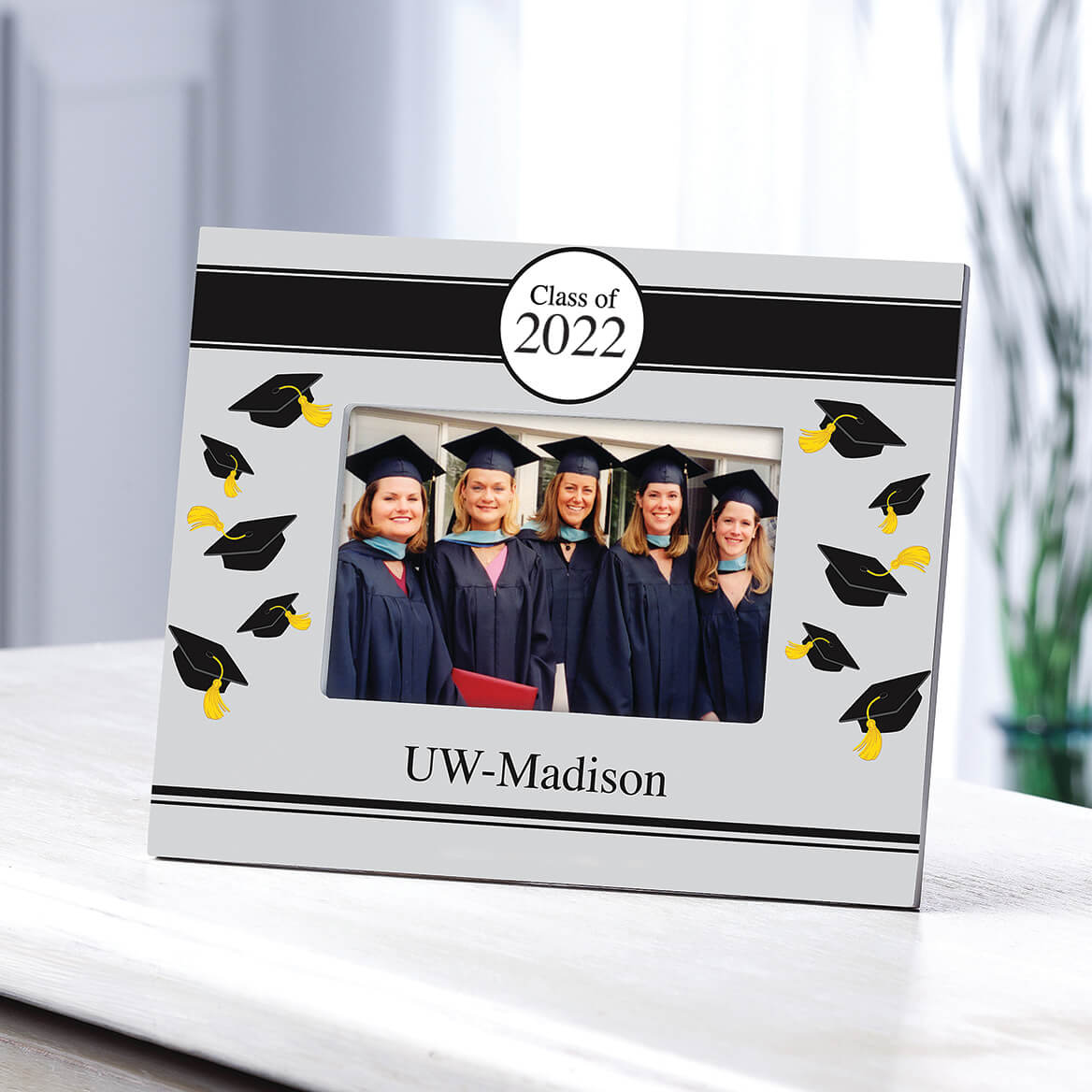 Personalized Tossed Cap Graduation Frame-361265