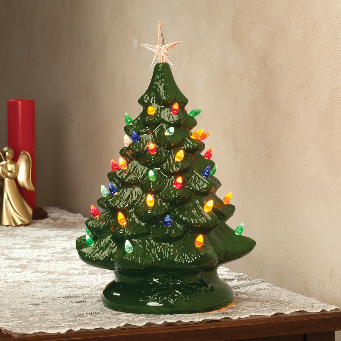 Nostalgic Ceramic Christmas Tree - Ceramic Tree - Walter Drake