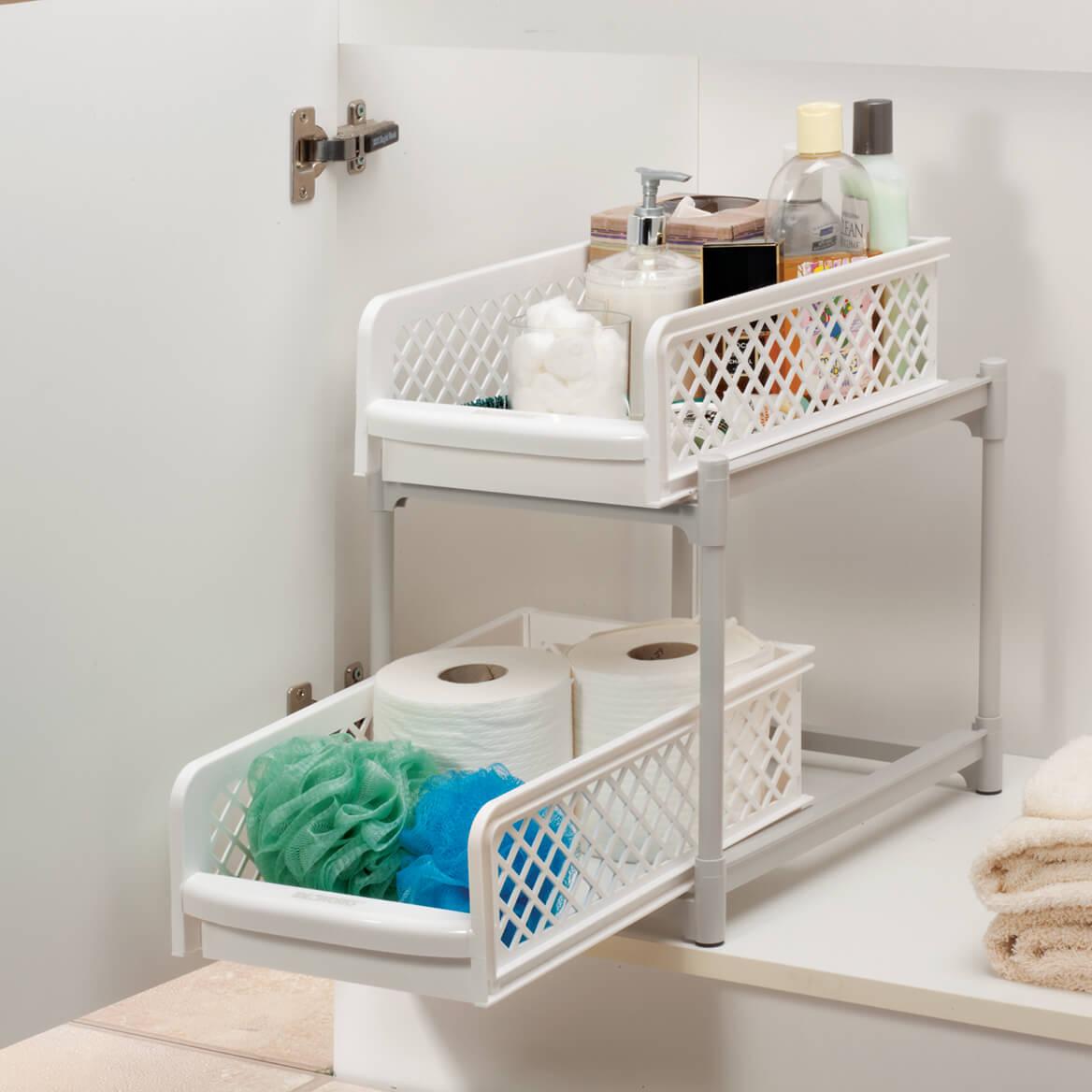 9 Inch Two Tier Sliding Storage Drawers 361364 Kitchen
