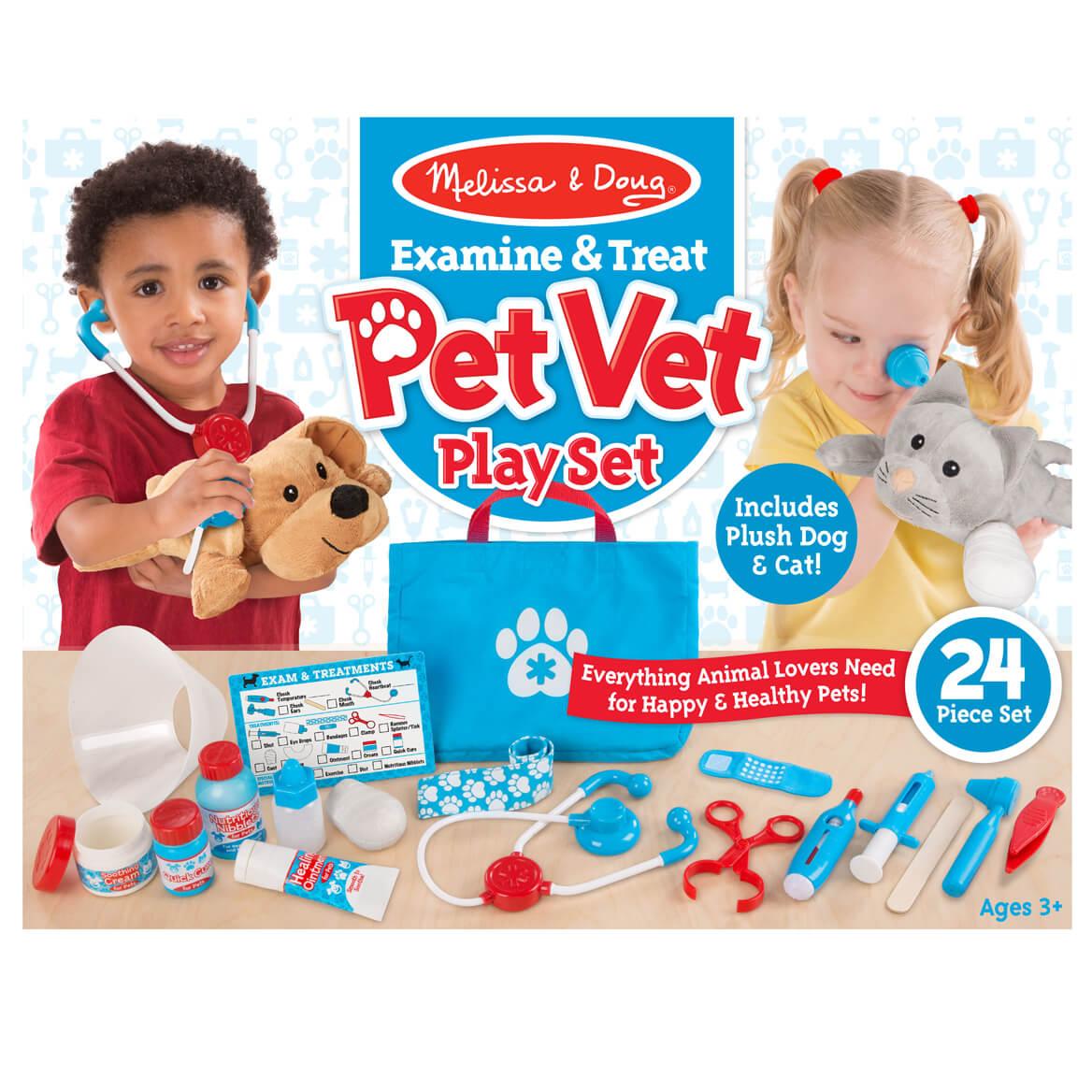 Melissa Amp Doug Examine Amp Treat Pet Vet Play Set Walter Drake