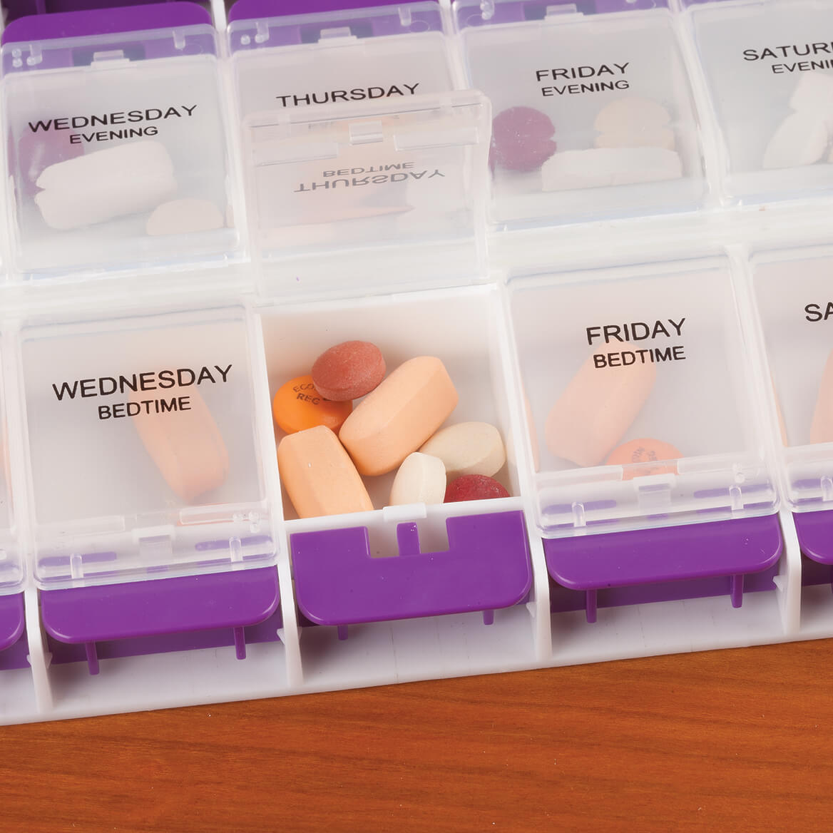 Oversized Easy Open Weekly Pill Organizer-361763