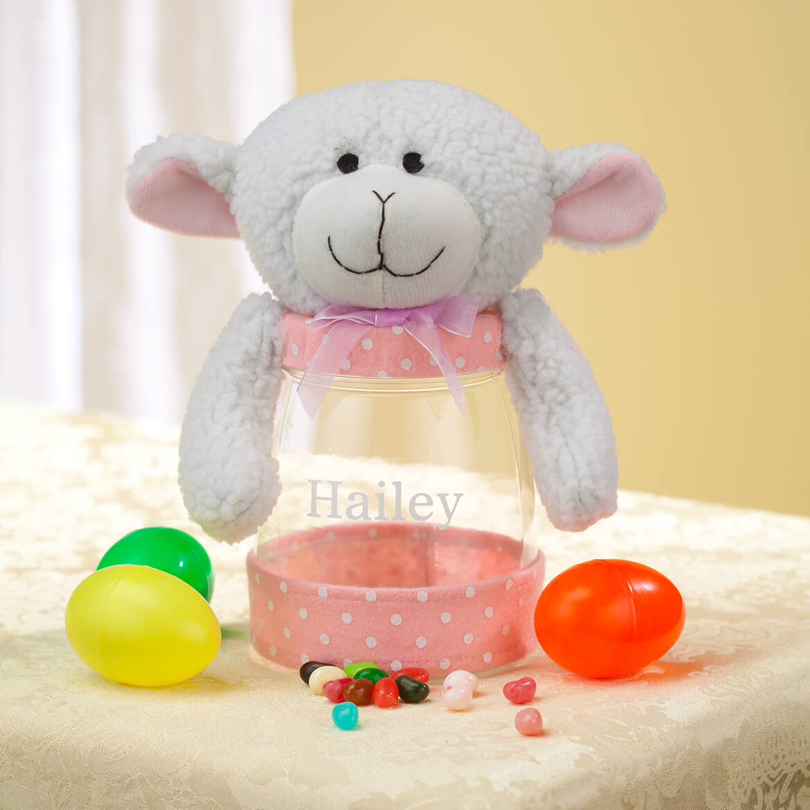 Personalized Easter Lamb Treat Jar-361813
