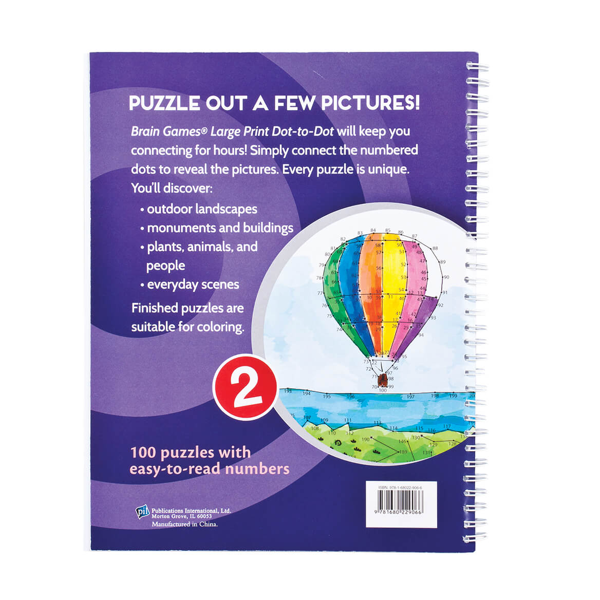 Brain Games® Large Print Dot to Dot Version 1 Owl Cover-361859
