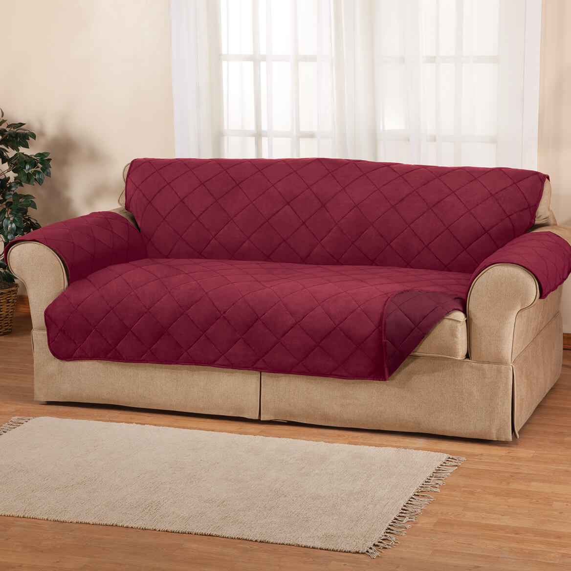 Incredible Naomi Suede Microfiber Xl Sofa Cover By Oakridge Ocoug Best Dining Table And Chair Ideas Images Ocougorg