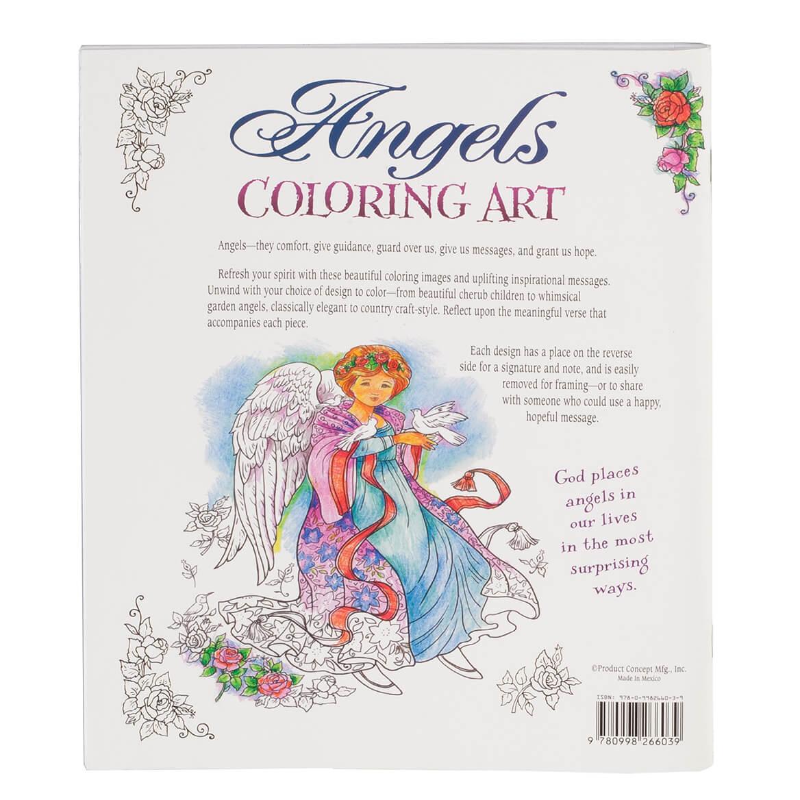 Angels Art Coloring Book - Angel Coloring Book - Walter Drake