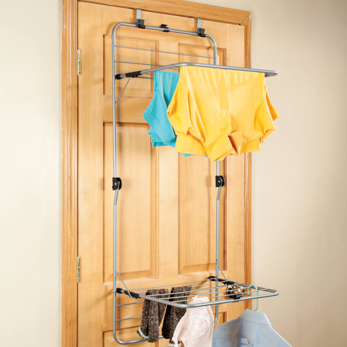 2 tier over the door drying rack clothes drying rack walter drake. Black Bedroom Furniture Sets. Home Design Ideas