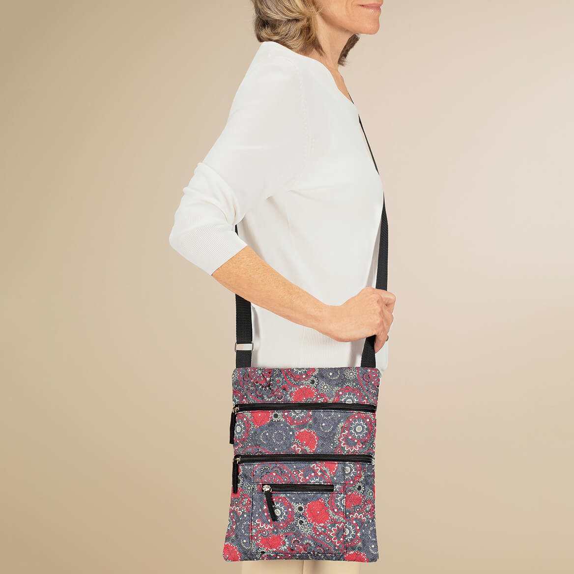 Quilted Crossbody Bag with Umbrella-362607