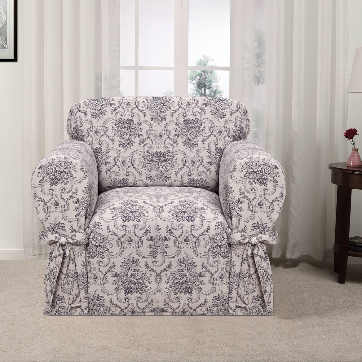 Kathy Ireland Chateau Chair Slipcover-362615