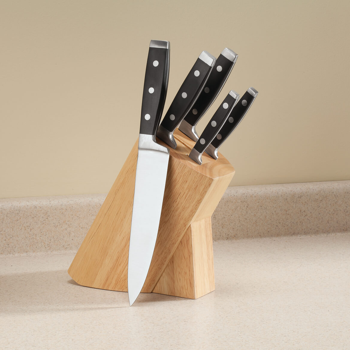6PC Forged Knife Block Set by Home Marketplace-362758