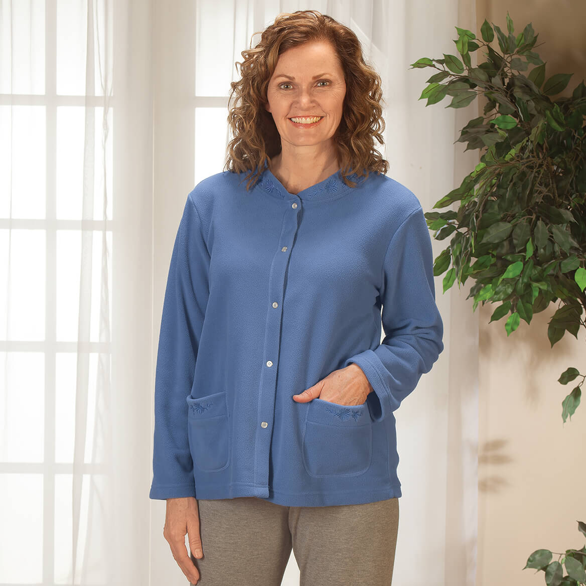bd46017158b Fleece Bed Jacket - Women s Bed Jacket - Fleece Jacket - Walter Drake