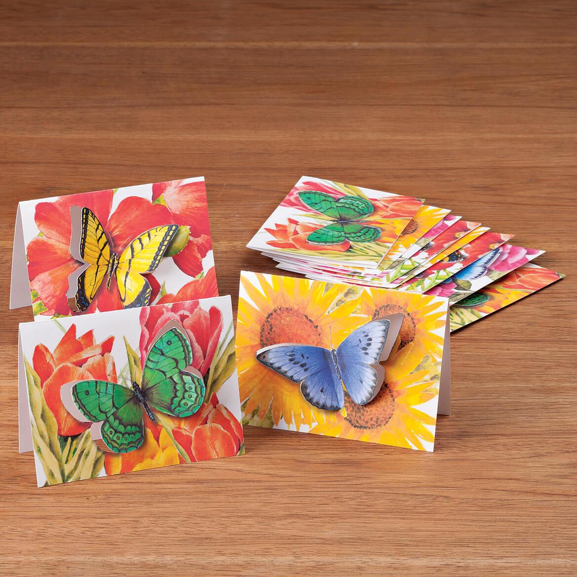 Butterfly Die Cut Note Card Set/12-362929