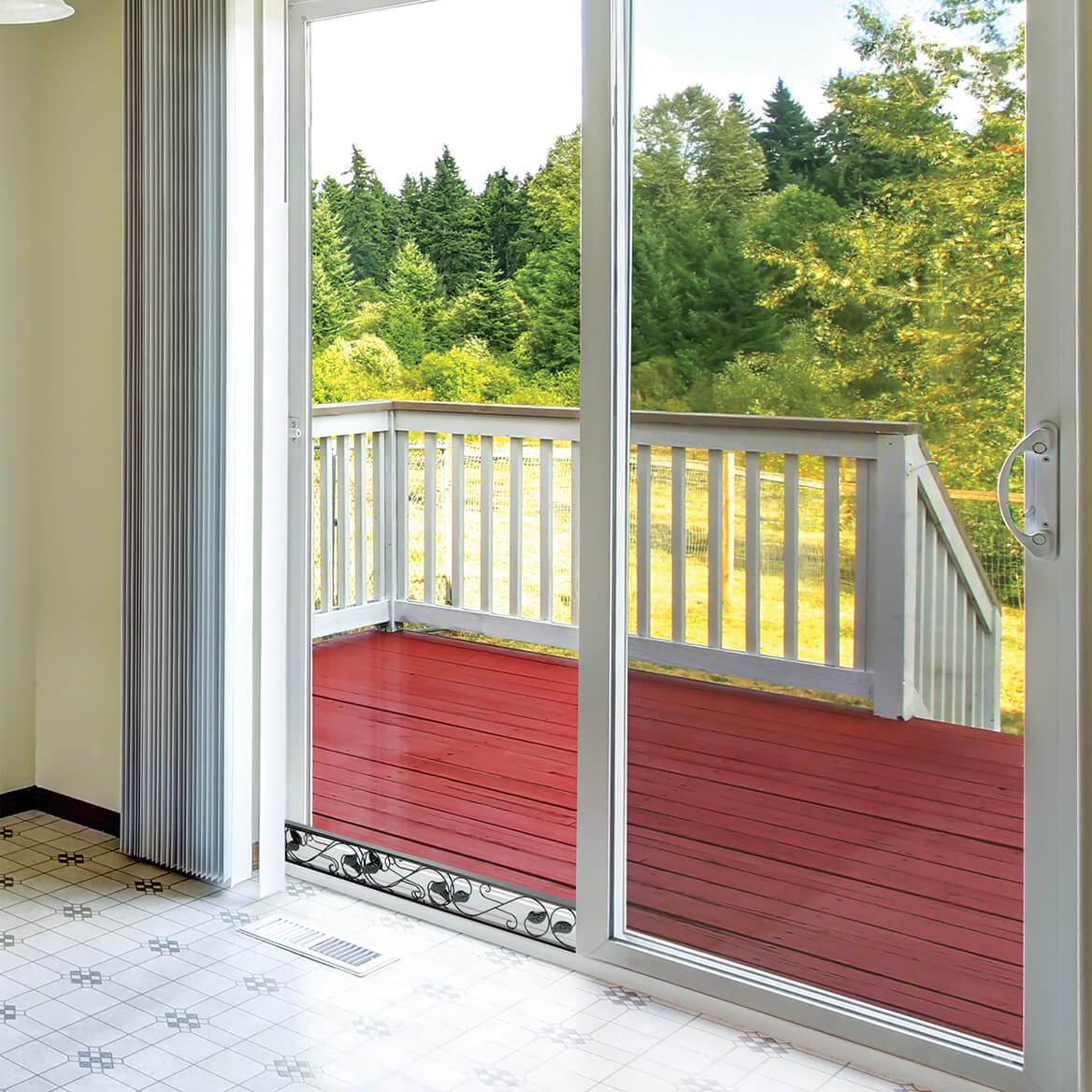 Decorative Sliding Door Security Bar Black-362982