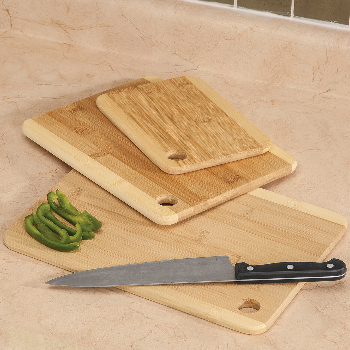 Bamboo Cutting Boards, Set of 3-363352
