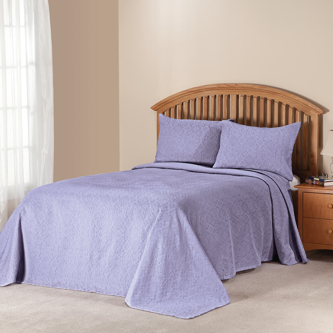 margaret matelass bedspreadsham twin lilac by oakridge 363402 - Liliac Bedding
