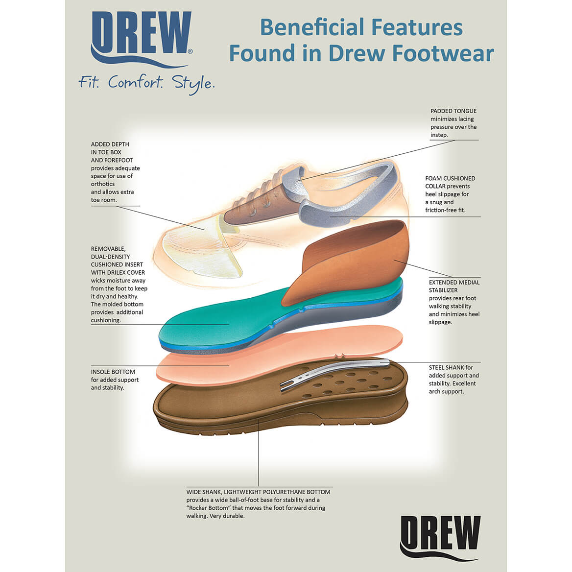Drew® Savannah Women's Therapeutic Diabetic Shoe