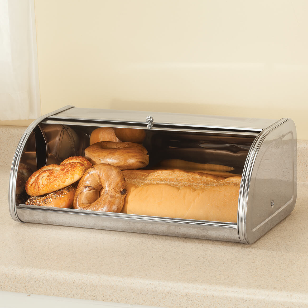 Oversized Stainless Steel Bread Box by Home Marketplace-363794