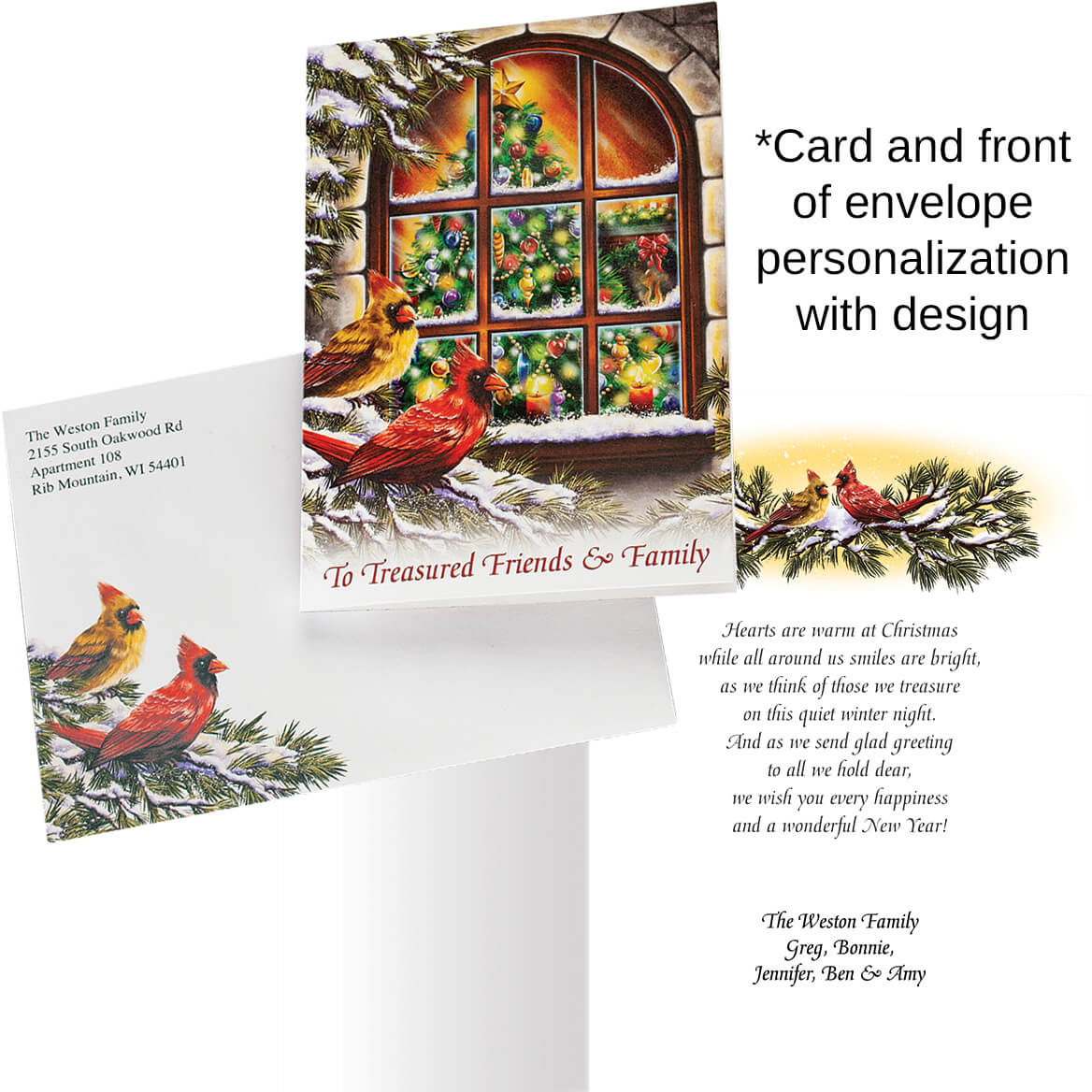 Personalized Treasured Friends Christmas Cards