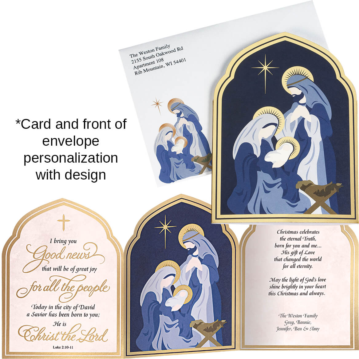Nativity Arches Christmas Card Set of 20-364028