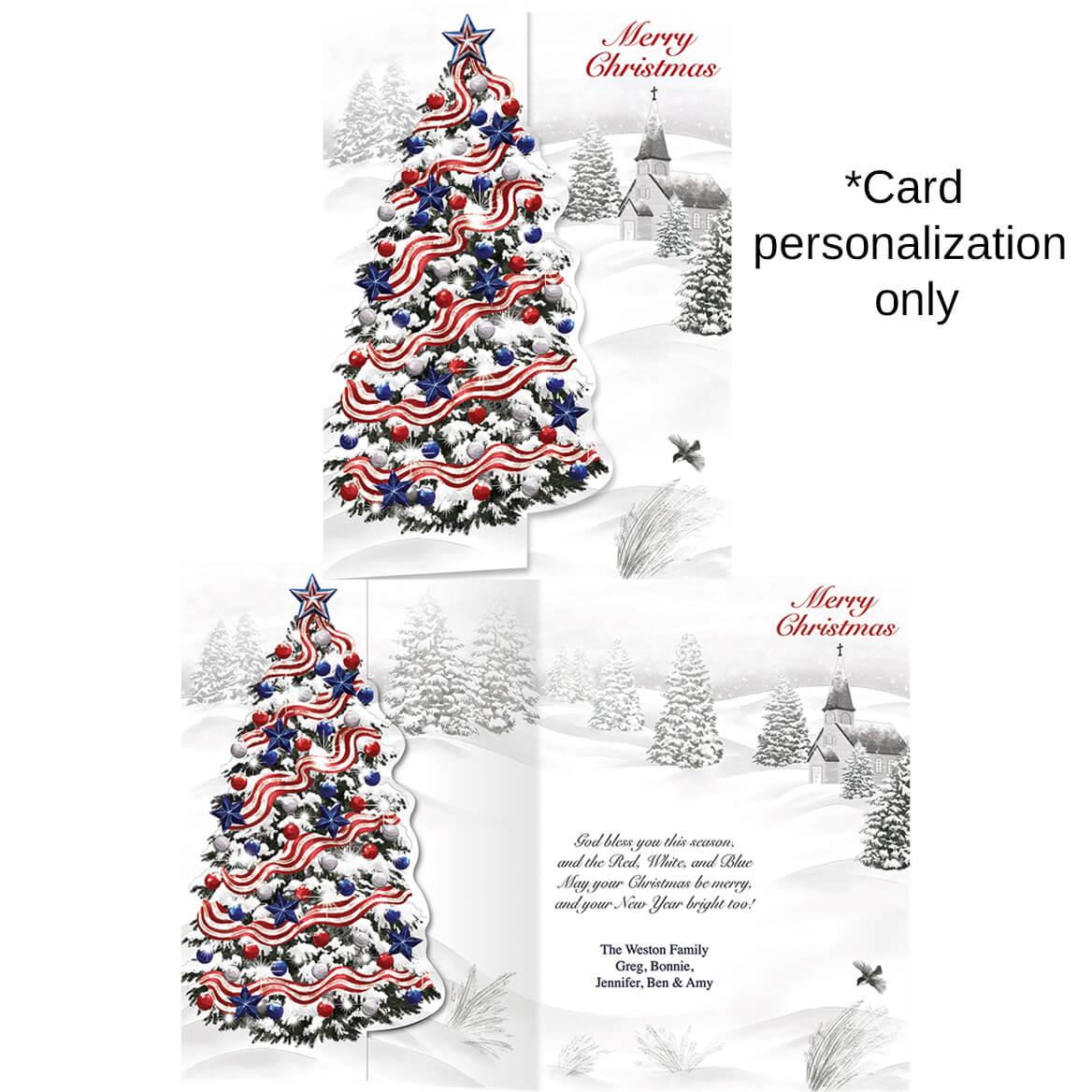 Patriotic Tree Christmas Card Set of 20-364032