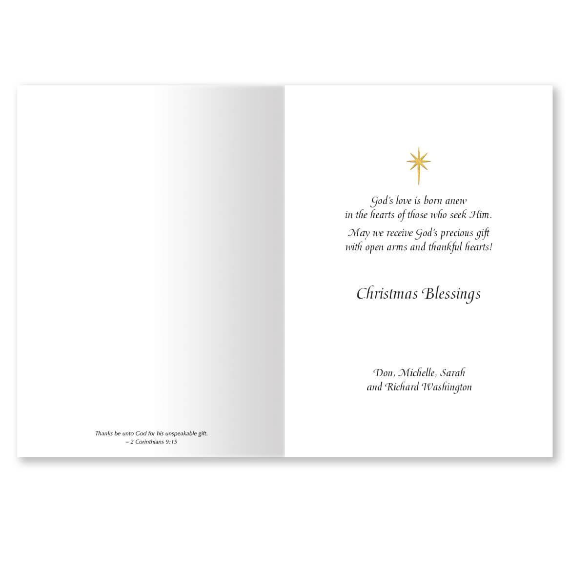 My Christmas List Religious Christmas Card Set of 20 - Walter Drake