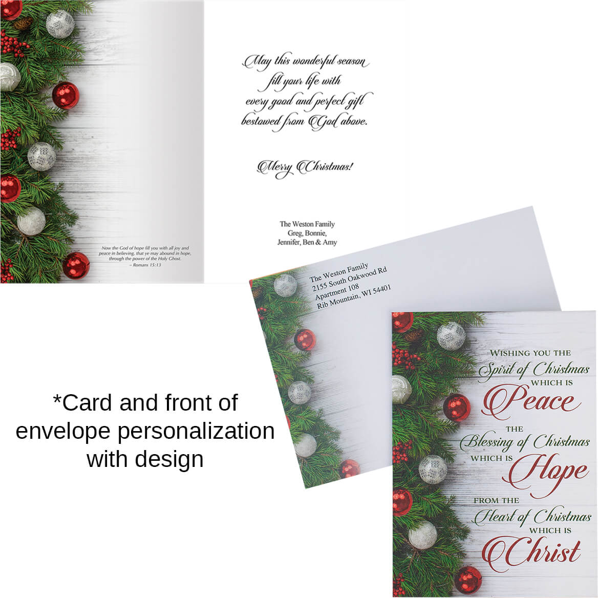 Peace, Hope, Christ Christmas Card Set of 20-364061