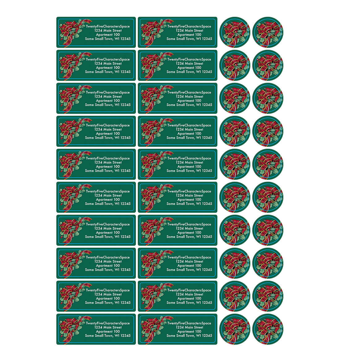 Personalized My Christmas List Address Labels & Seals 20-364697