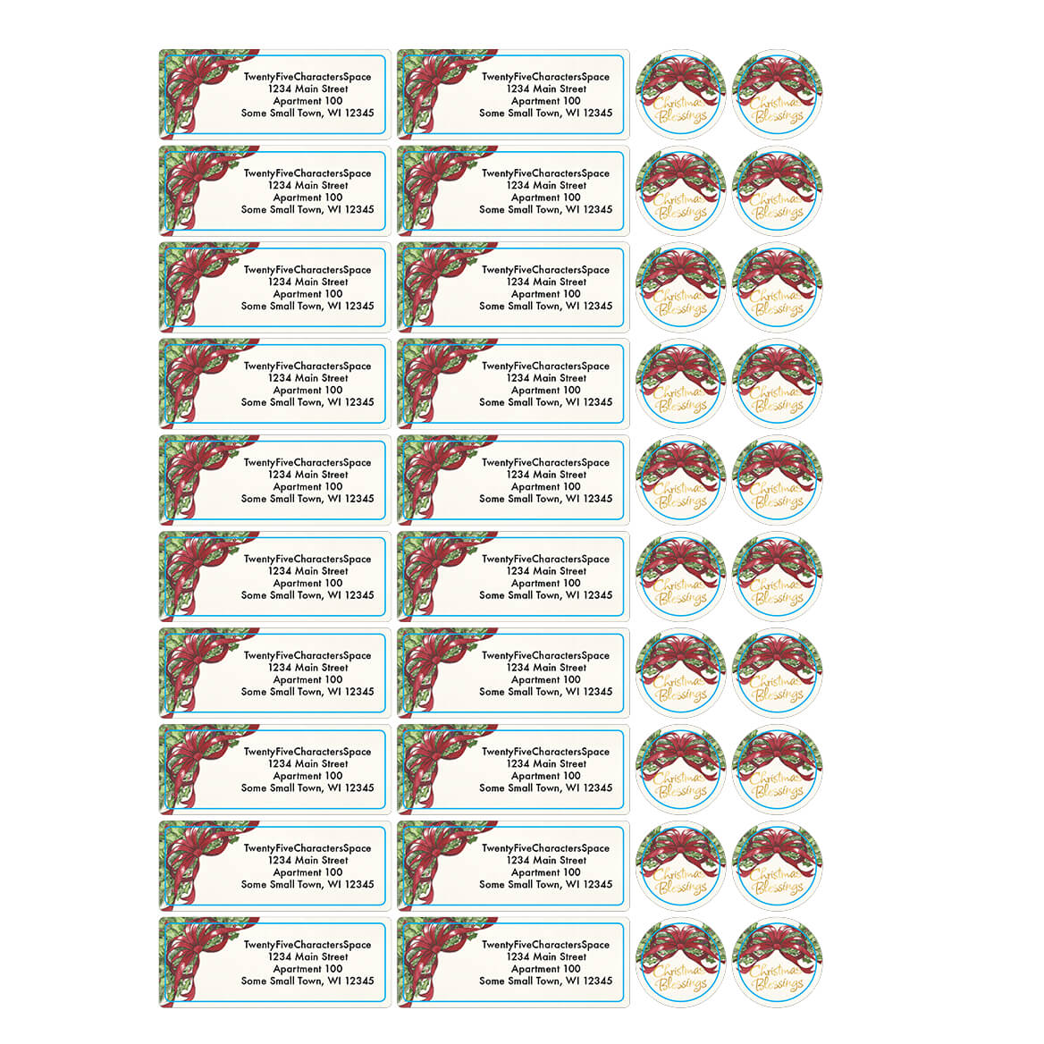 personalized christmas blessings address labels seals walter drake