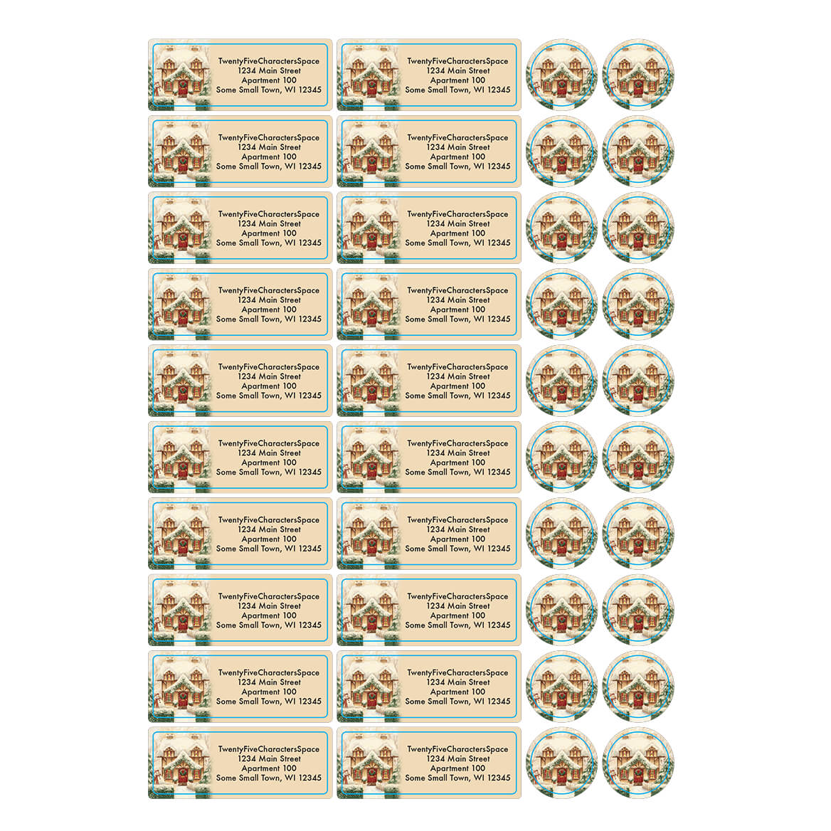 Personalized Cozy Cottage Address Labels & Seals 20-364725