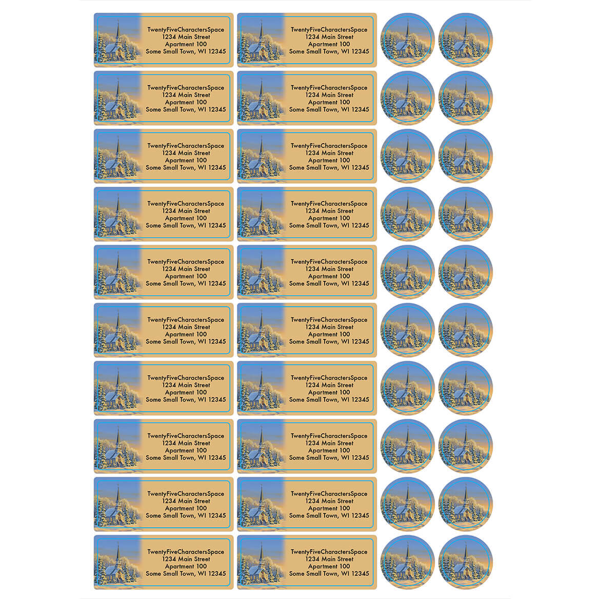 Personalized Reflections of Winter's Eve Labels & Seals 20-364743